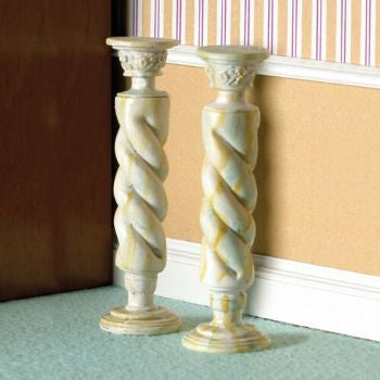 Dolls House Miniature 'Marble' Twist Column 2 pcs. (PR), Hall - The Dolls House Store