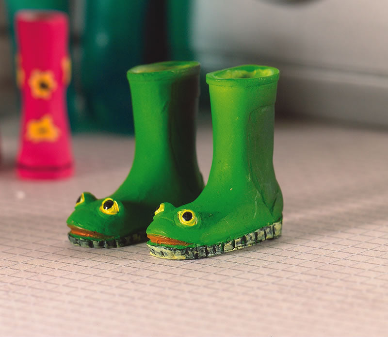 Dolls House Miniature Froggie Wellies, Garden - The Dolls House Store