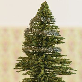 dolls house miniature silver christmas tinsel length 2000mm christmas the dolls house