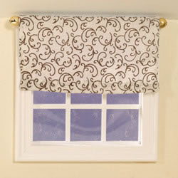 Dolls House Miniature Patterned Roll-Up Blind, Curtains - The Dolls House Store