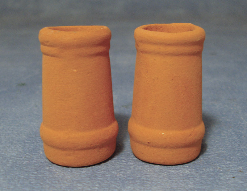 Dolls House Miniature Medium Round Chimney Pots, DIY - The Dolls House Store