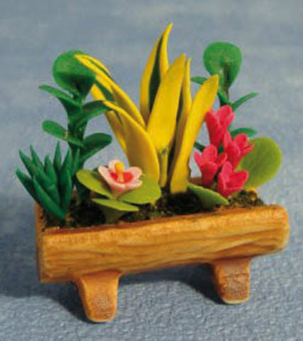 Dolls House Miniature Mixed Flowers In Trough, Flowers - The Dolls House Store