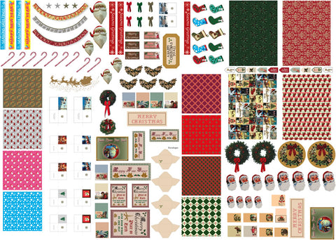 Dolls House Miniature Christmas Cut Out Sheet, Christmas - The Dolls House Store