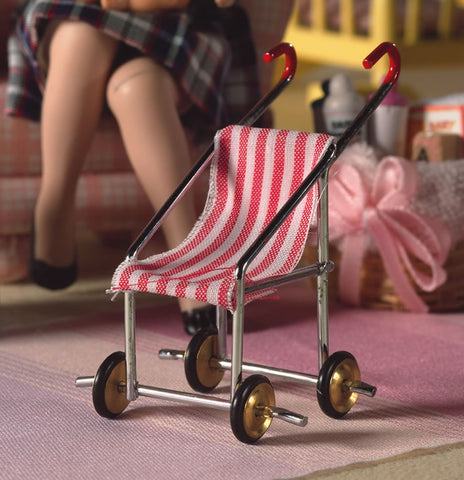 Dolls House Miniature Baby Buggy, Nursery - The Dolls House Store