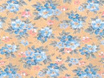 Dolls House Miniature Blue Flowers Exclusive!, Wallpaper - The Dolls House Store