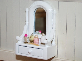 Dolls House Miniature BA115 Dressing Table Set, Bedroom - The Dolls House Store