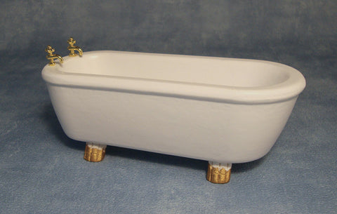 Dolls House Miniature Bath With Feet, Bathroom - The Dolls House Store