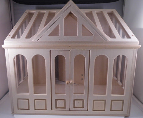 Dolls House Miniature Conservatory Unpainted, Conservatory - The Dolls House Store