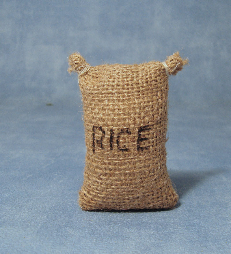 Dolls House Miniature Large Sack Of Rice, Shop Fittings - The Dolls House Store