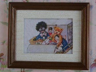 Dolls House Miniature Toys Picture Brown Frame, Paintings - The Dolls House Store