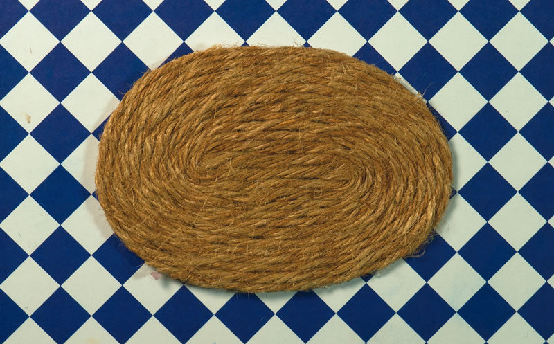Dolls House Miniature Oval Rush Mat, Flooring - The Dolls House Store