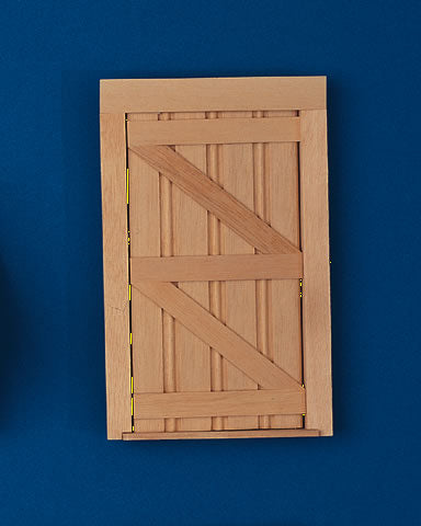 Dolls House Miniature Lutyens Internal Wooden Door, Doors and Windows - The Dolls House Store