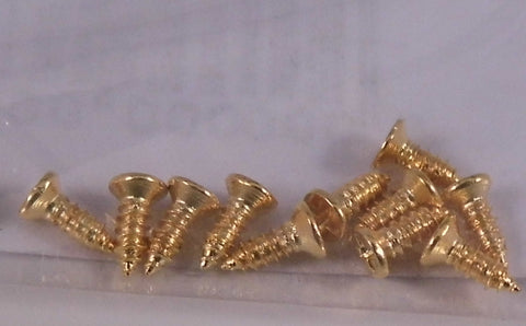 Dolls House Miniature 12 Brass 4mm Screws, DIY - The Dolls House Store