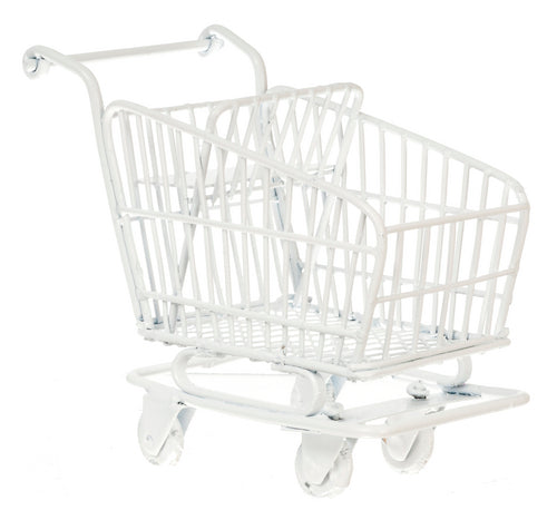 Dolls House Miniature Shopping Cart White, Shop Fittings - The Dolls House Store