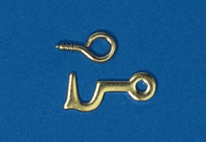 Dolls House Miniature Hook & Eye 2 Pieces, DIY - The Dolls House Store