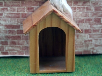 Dolls House Miniature Wooden Kennel, Pets and Animals - The Dolls House Store