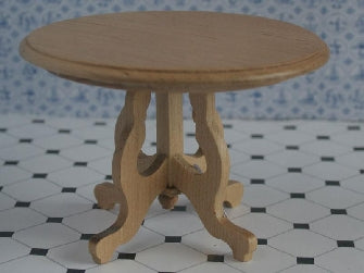 Dolls House Miniature Round Table With 3 Legs, Hall - The Dolls House Store
