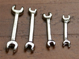 Dolls House Miniature Set of 4 Wrenches, Miscellaneous - The Dolls House Store