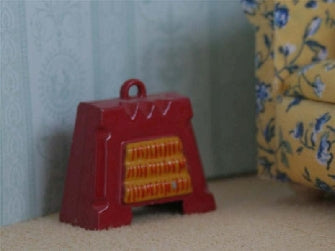 Dolls House Miniature Non Working Electric Fire Red, Living Room - The Dolls House Store