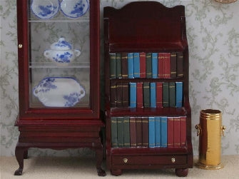 Dolls House Miniature Library Bookcase and Books, Study - The Dolls House Store
