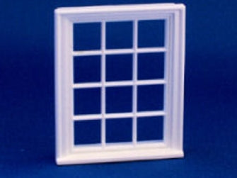 Dolls House Miniature 1/24th scale 12 pane Victorian window, 1/24th Scale - The Dolls House Store