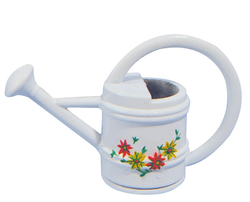 Dolls House Miniature White Watering Can, Garden - The Dolls House Store