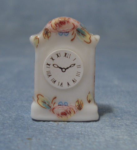 Dolls House Miniature Floral Clock, Clocks - The Dolls House Store