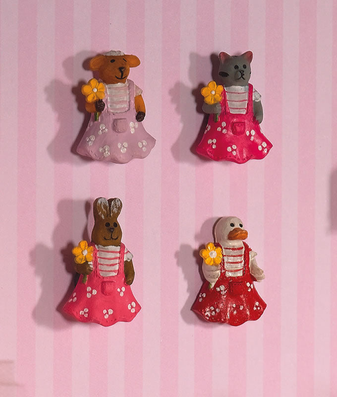 Dolls House Miniature Animal Plaques 4pc, Nursery - The Dolls House Store