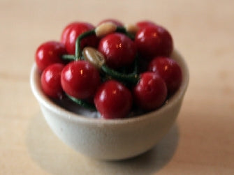 Dolls House Miniature Bowl Of Cherries, Food and Drink - The Dolls House Store