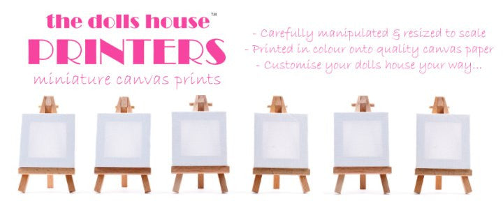 Miniature Dolls House Canvas Printing