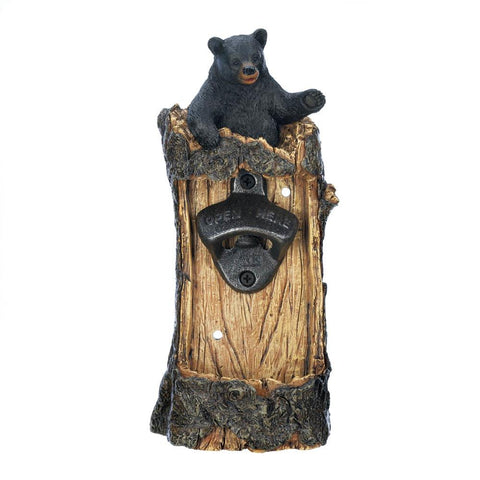 Black BearWall Mounted Bottle Opener