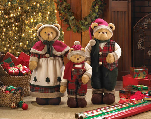 Holiday Family Bear Decor