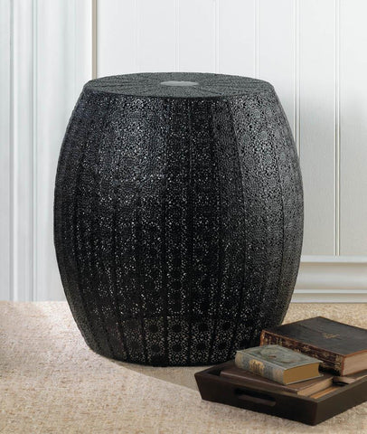 Midnight Moroccan Lace Stool