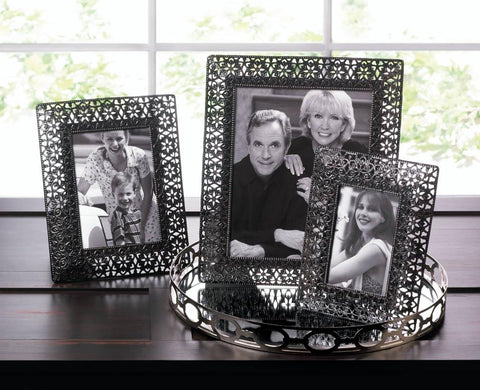 Moroccan Cutout Flowers Photo Frame Combo