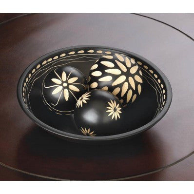 Ebony Decorative Bowl and Balls