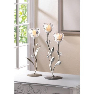 Crystal Flower Candleholder Bundle