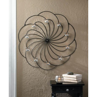 Pinwheel Candle Wall Sconce