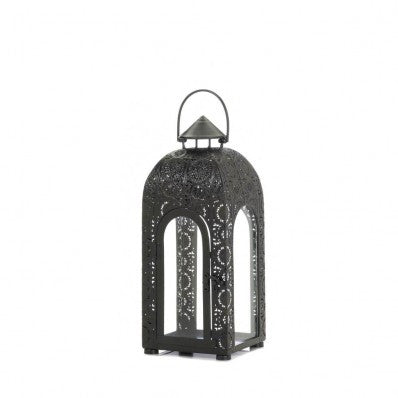 Arched Black Medallion Lanterns