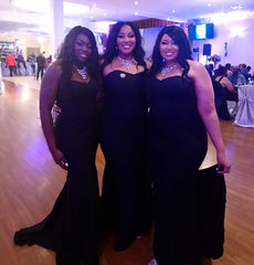 Black mermaid bridesmaids