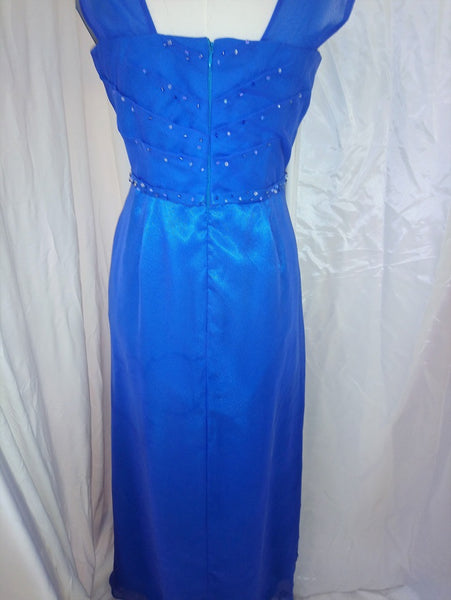 Perri Blue Chiffon dress
