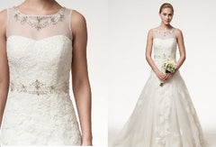 Beaded Lace Bridal Gown