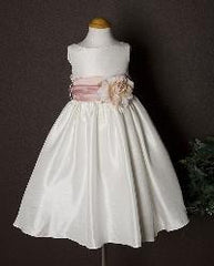 flower girl dress shantung