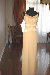 Gold Micro Crepe Dress