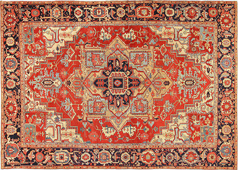 Design Of Heriz Rug Hesamcrafts