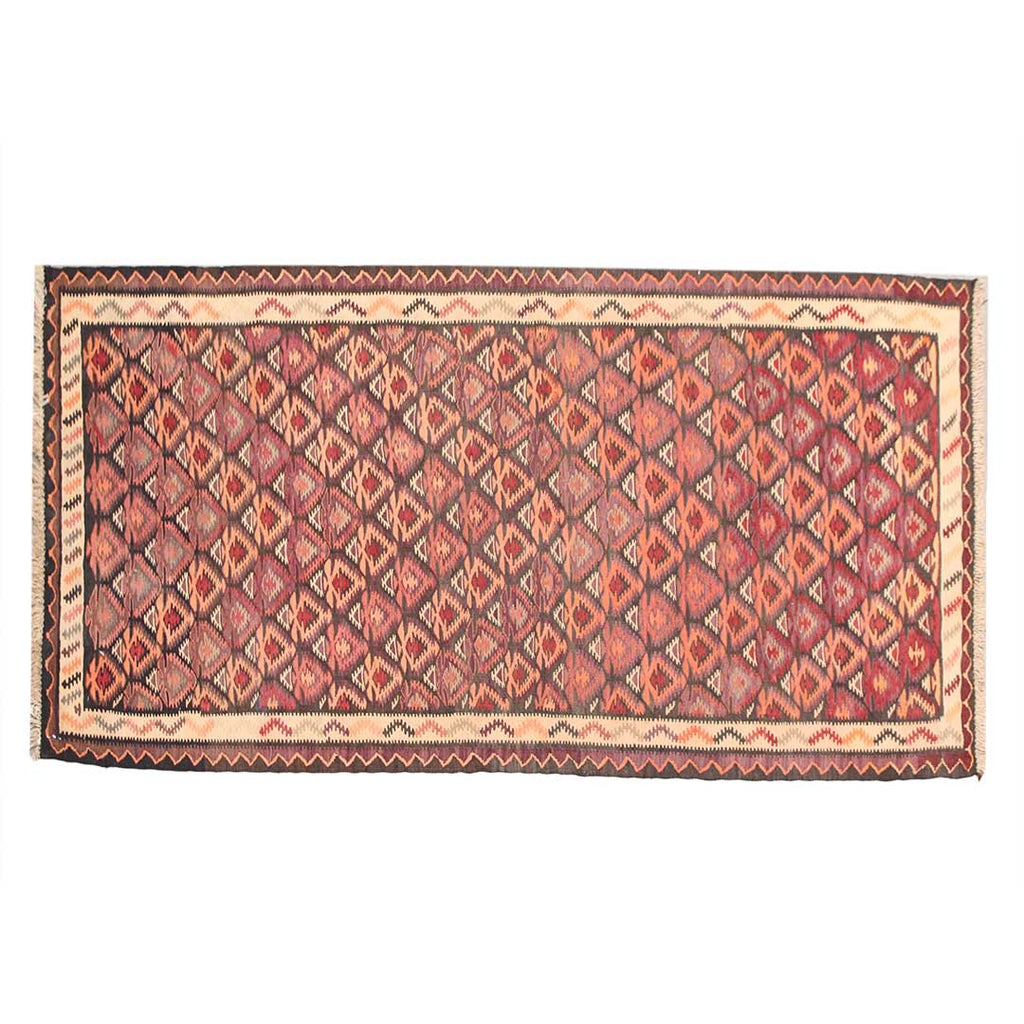 Handmade Kilim Rugs Faded Pink 3x7 Persian Rug Outdoor