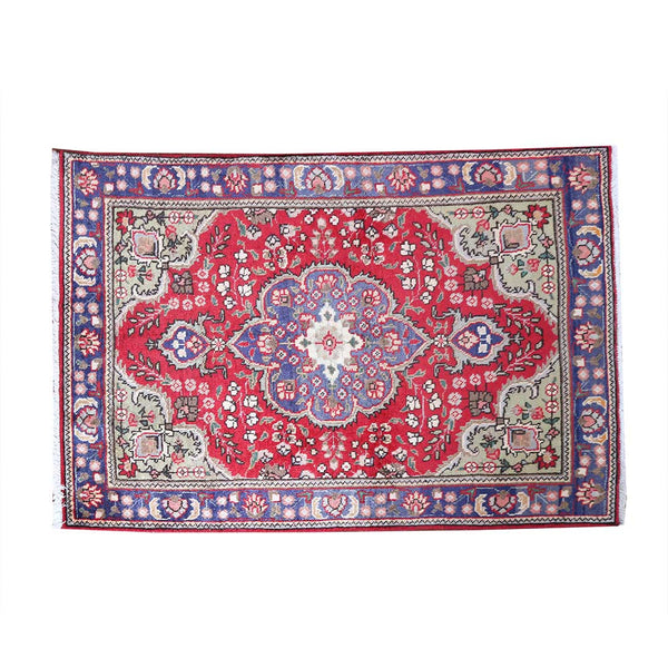 Traditional Handmade Geometric 3x5 Red persian Rugs