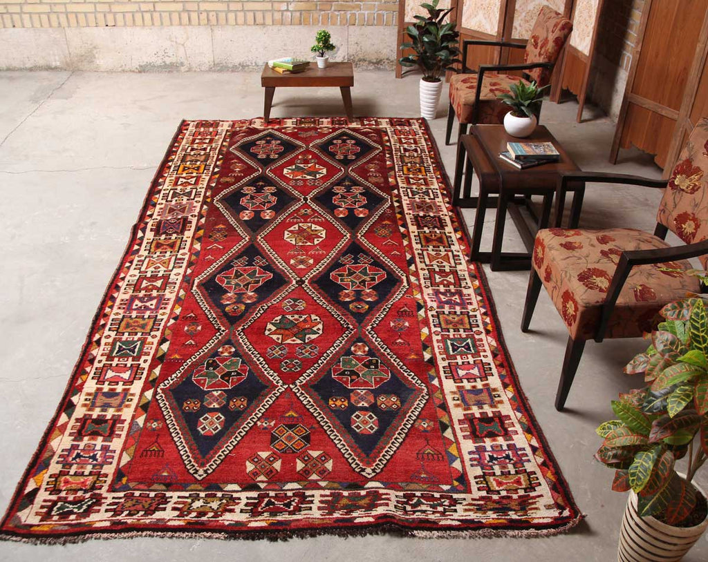Hand Knotted Rugs Distressed Brown 5x10 Persian Rug Home
