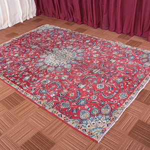 6x10 Wool Oriental Red And Beige Handmade Persian area rugs
