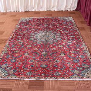 6x10 Wool Vintage Red And Beige Handmade Persian area rugs