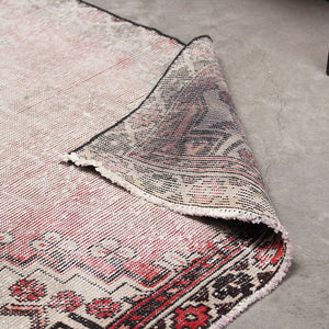 3x6 Wool Antique Red And Brown Handmade Persian area rug